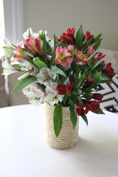 DIY Sisal Rope Vase by www.mylifefromhome.com