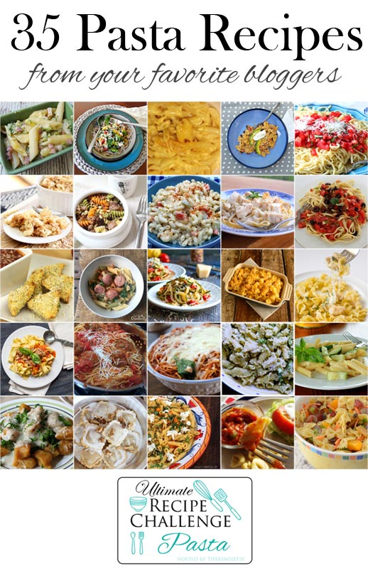 Pasta Collage for Ultimate Recipe Challenge