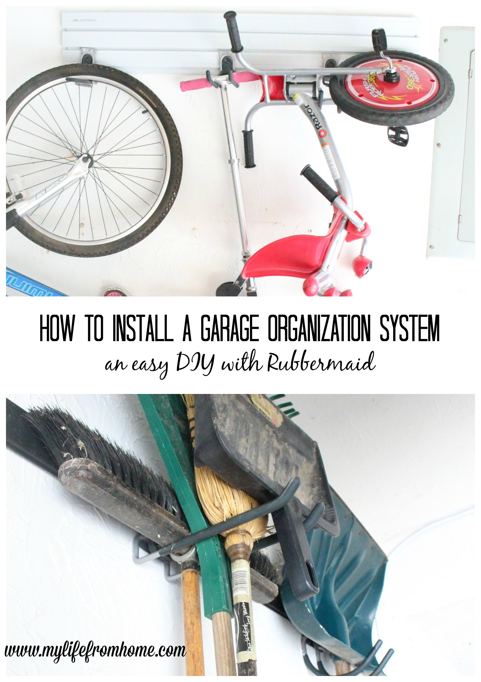 How to Install a Garage Organization System by Rubbermaid garage organization Rubbermaid garage system organizing your garage garage clean up