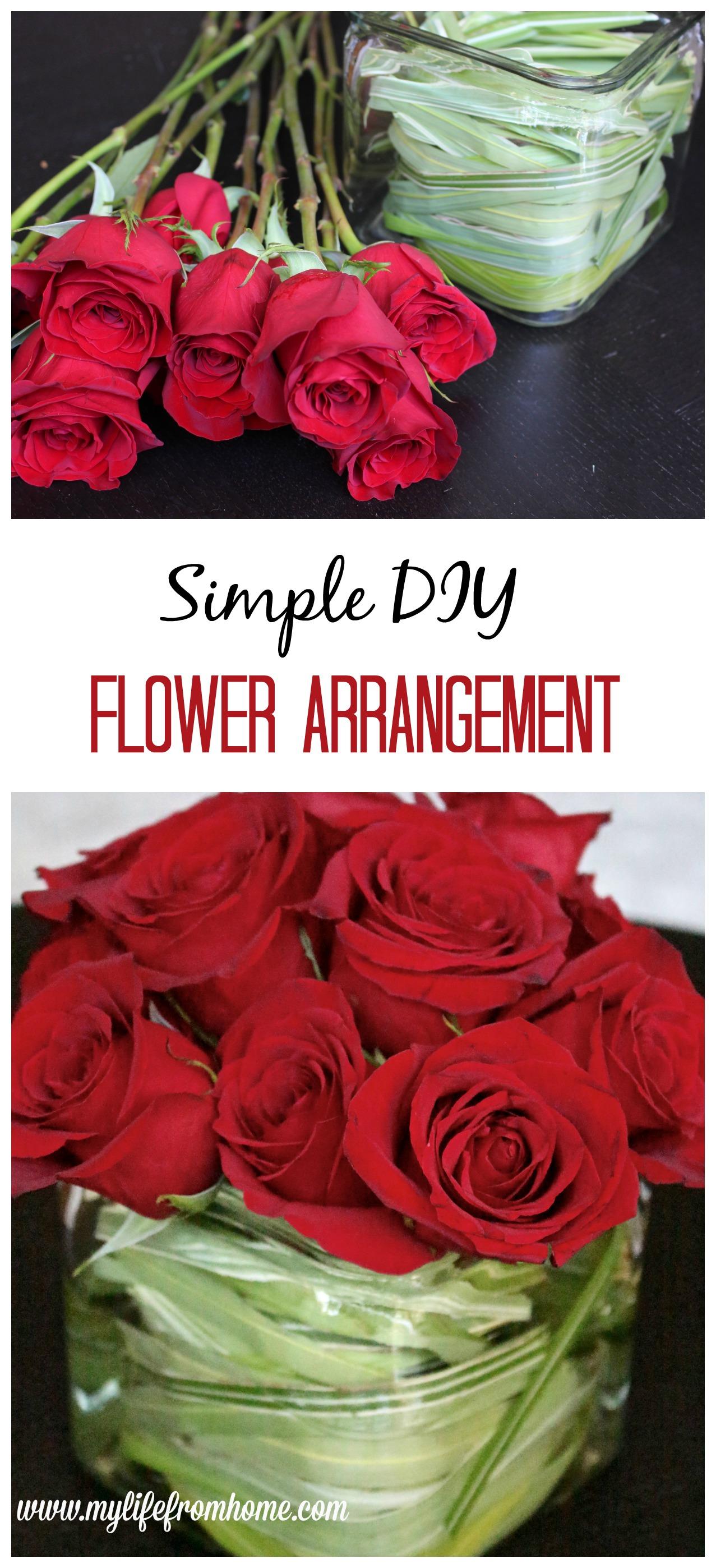 Simple DIY Flower Arrangement roses flower arranging DIY flower arrangement hand bouquet grocery store flowers