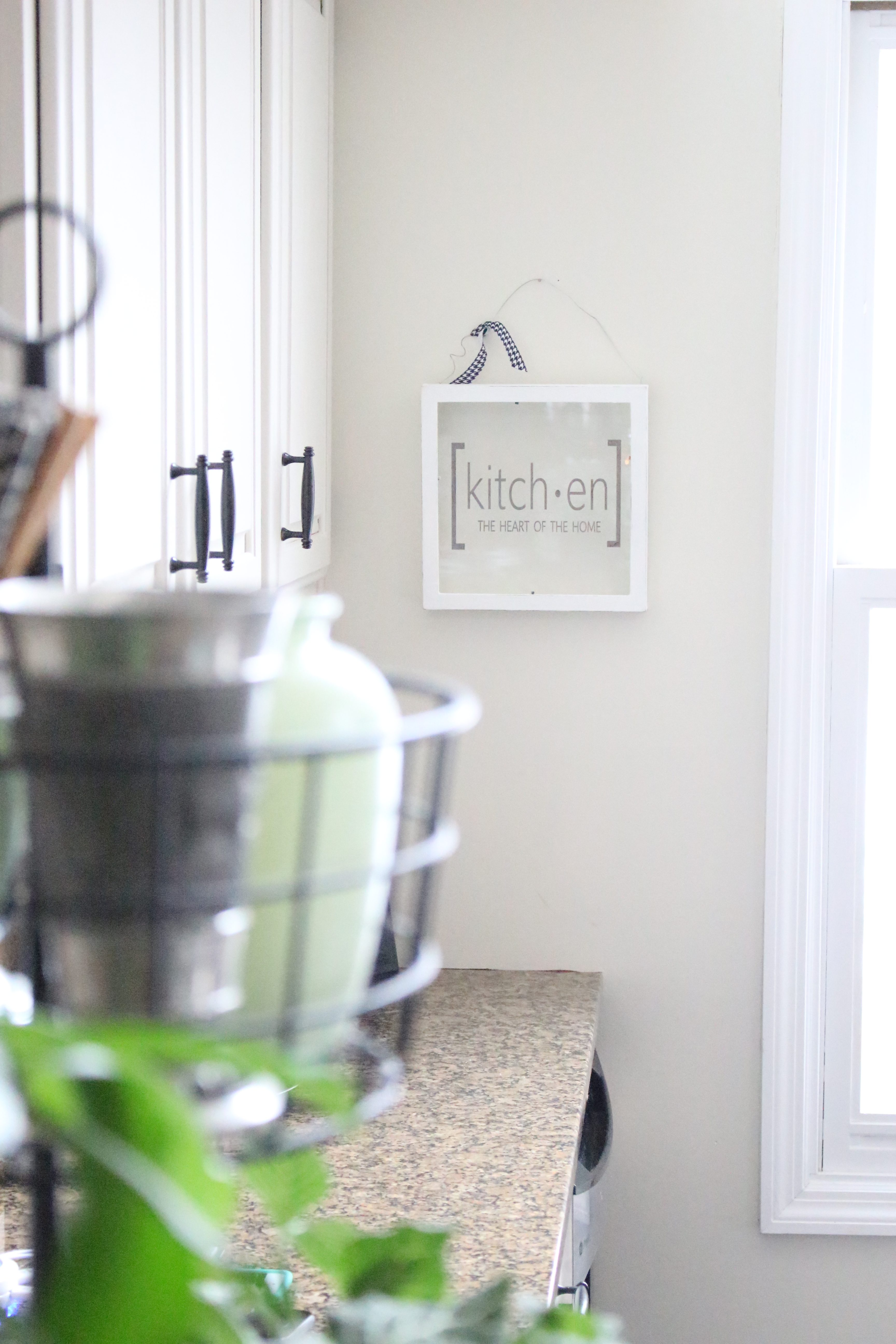 Farmhouse Glass Kitchen Sign | My Life From Home