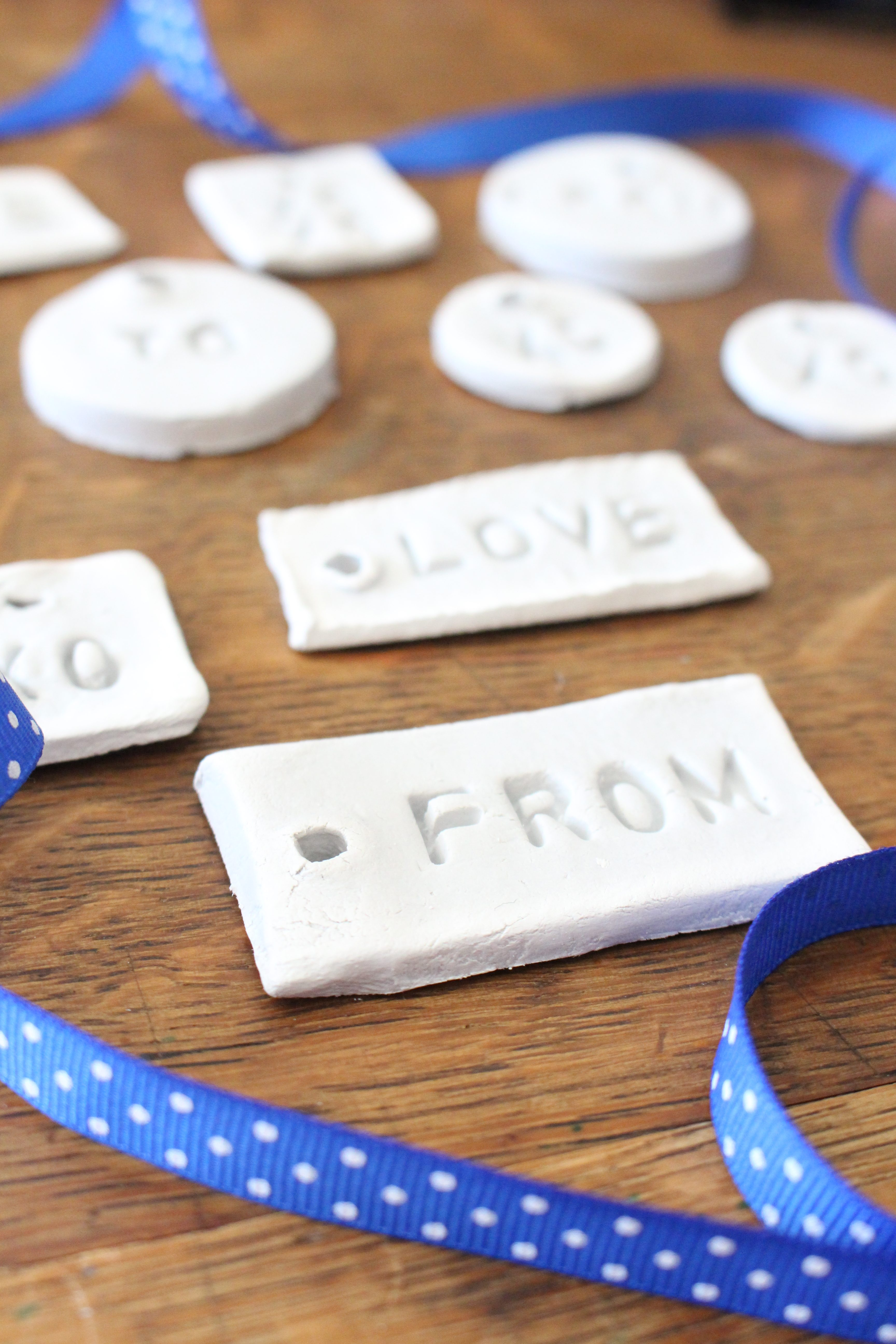 Air Dry Clay tools- clay projects- tools- clay gift tags- clay tags