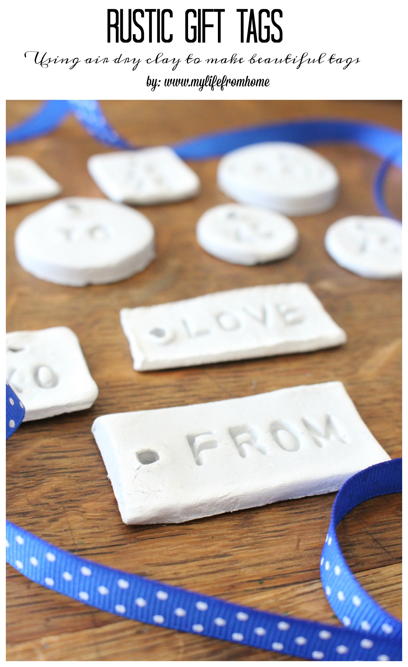 Rustic Gift Tags- clay projects- idea