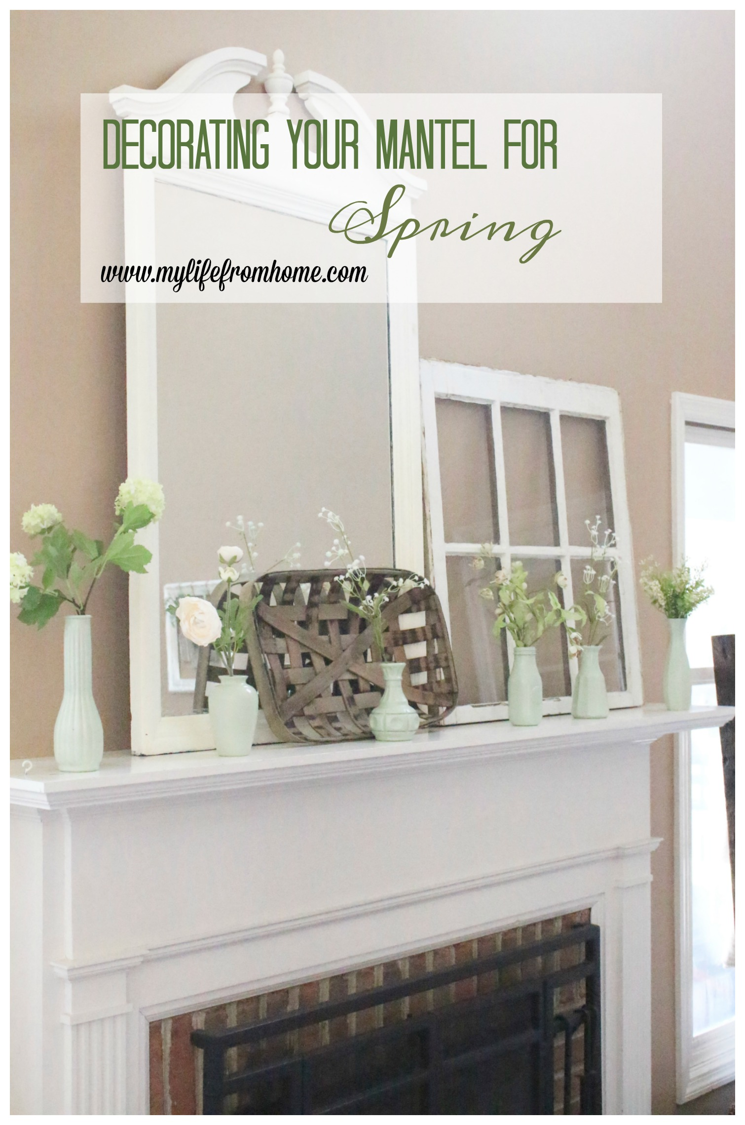 Decorate Your Mantel: Faux Milk Glass Mantel for Spring ...