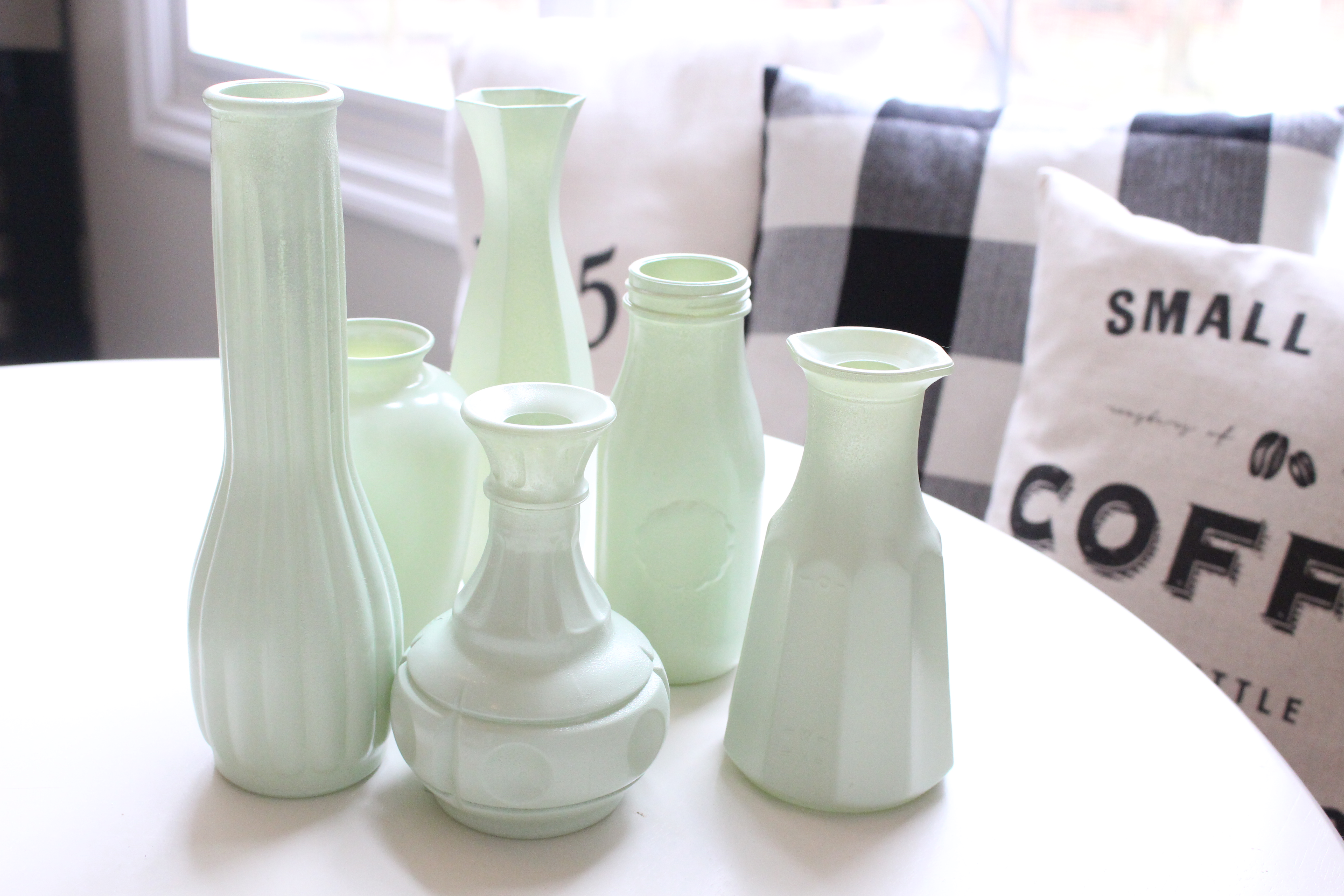 Make your own milk glass with spray paint my life from home make your own milk glass with spray paint milk glass faux milk glass reviewsmspy