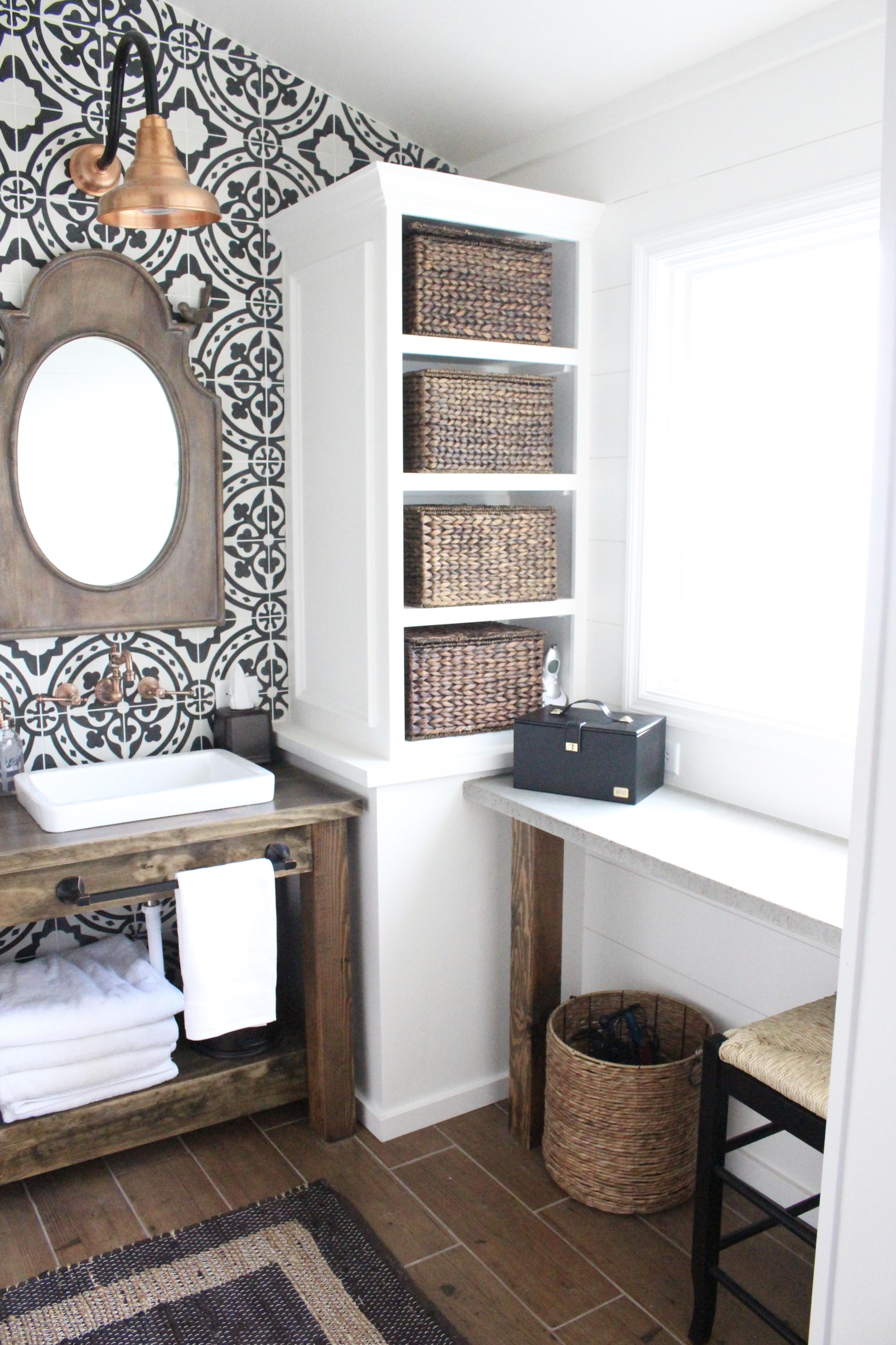 Modern Farmhouse Bathroom Remodel Reveal | White Cottage ... on Bathroom Ideas Modern Farmhouse  id=24791