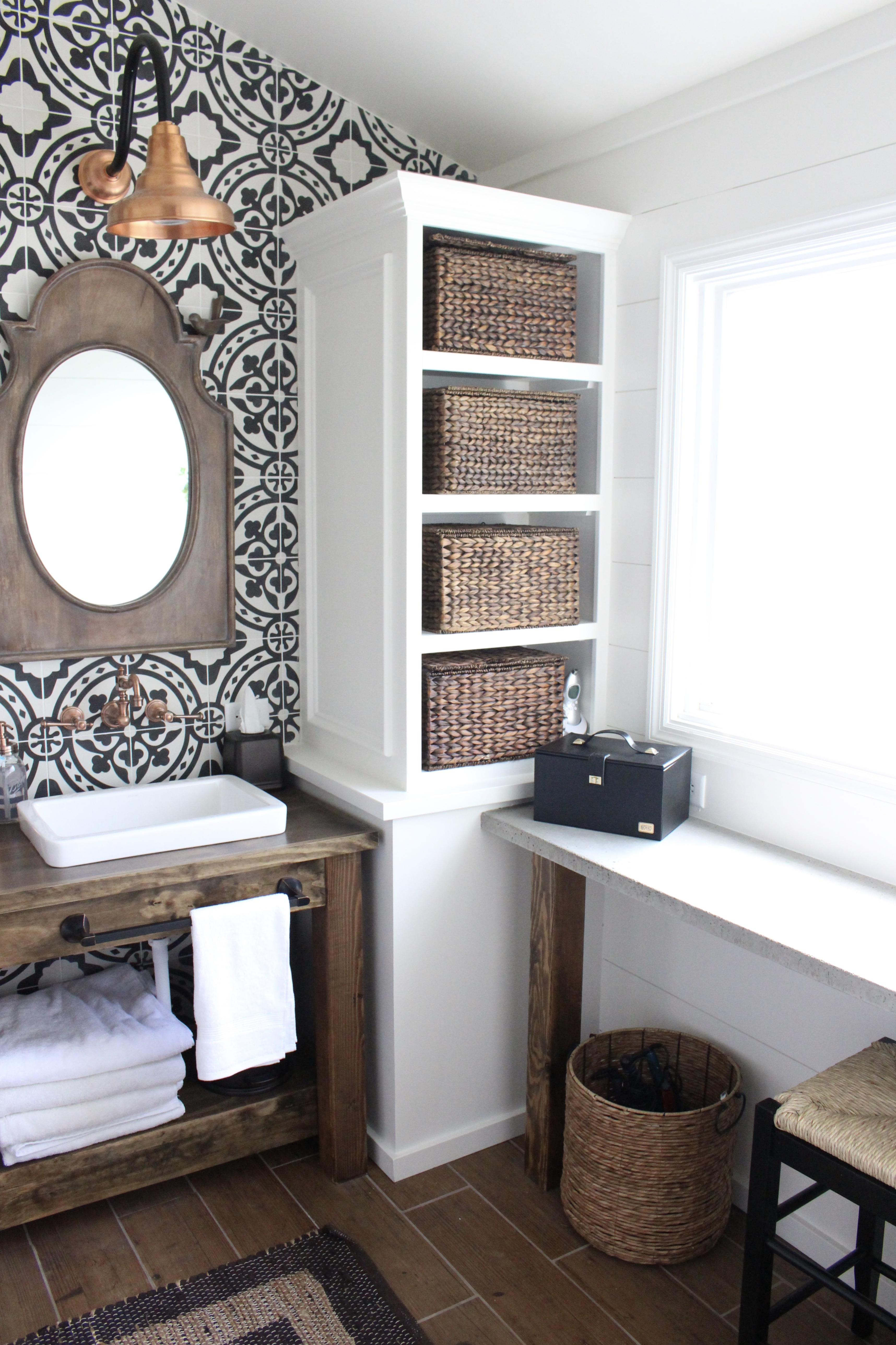 Modern Farmhouse Bathroom Remodel Reveal | White Cottage ... on Farmhouse Shower Ideas  id=16504