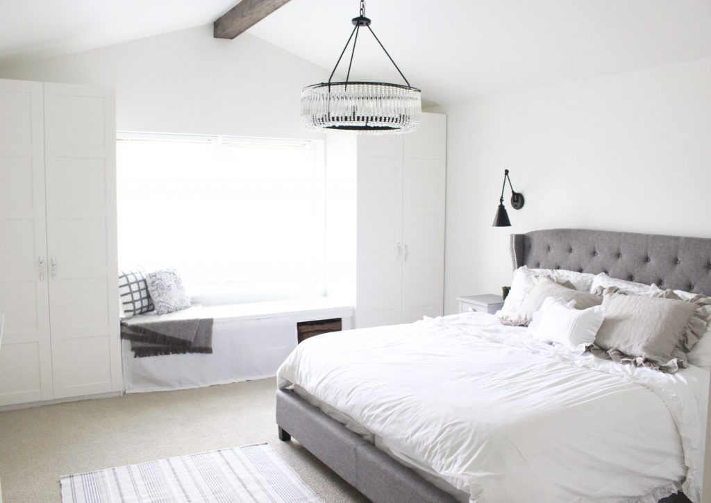 Farmhouse Master Bedroom Reveal White Cottage Home Living