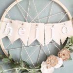 DIY Embroidery Hoop Wreath~ Create With Me!