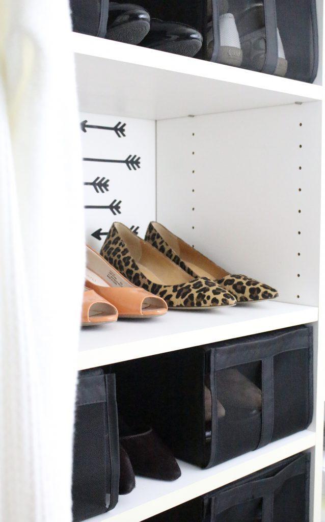 A full boutique closet reveal- master closet- closets- organizing closets- do it yourself- DIY- DIY projects- decoration ideas- room decor ideas- room design- home decor- closet decor- boutique- closet organization- shelf organization- walk in closet- shoes as art