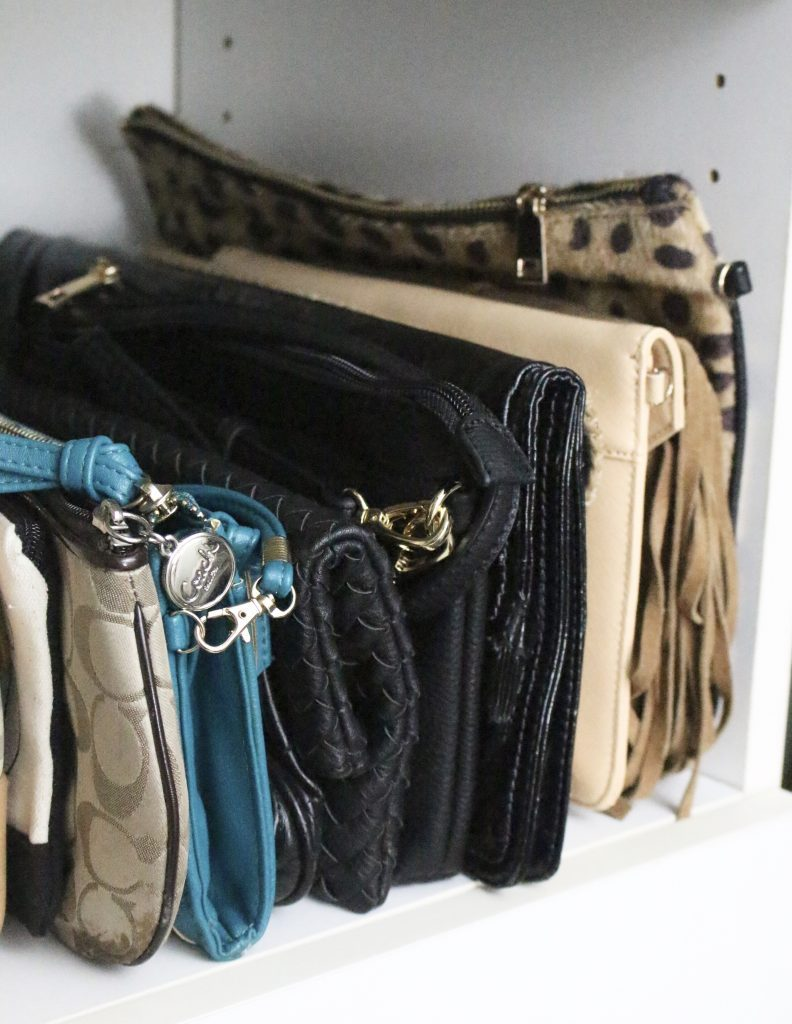 A full boutique closet reveal- master closet- closets- organizing closets- do it yourself- DIY- DIY projects- decoration ideas- room decor ideas- room design- home decor- closet decor- boutique- closet organization- shelf organization- walk in closet- purse display- organizing clutches