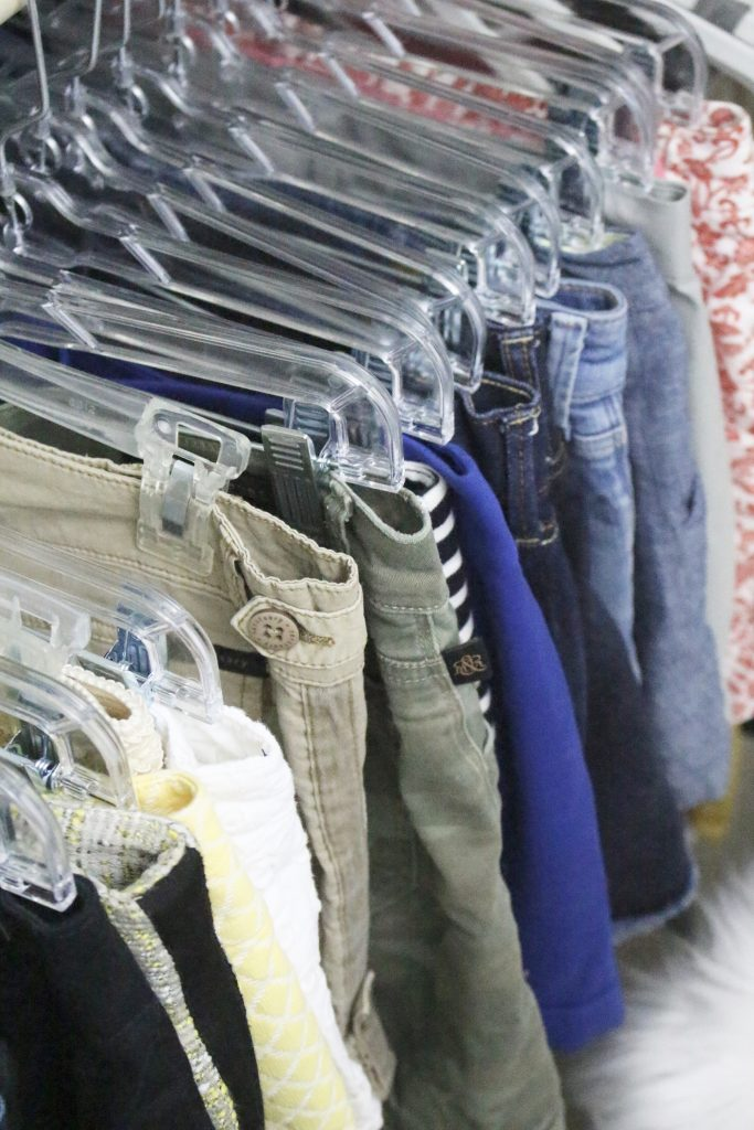 A full boutique closet reveal- master closet- closets- organizing closets- do it yourself- DIY- DIY projects- decoration ideas- room decor ideas- room design- home decor- closet decor- boutique- closet organization- shelf organization- walk in closet- matching hangers