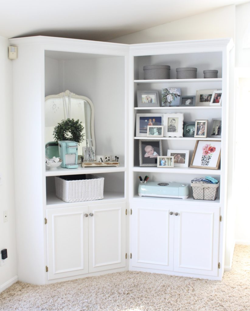 White Cottage Style Bedroom With Bookcases  Shabby Chic Style  Cottage  Style  Coffee Station
