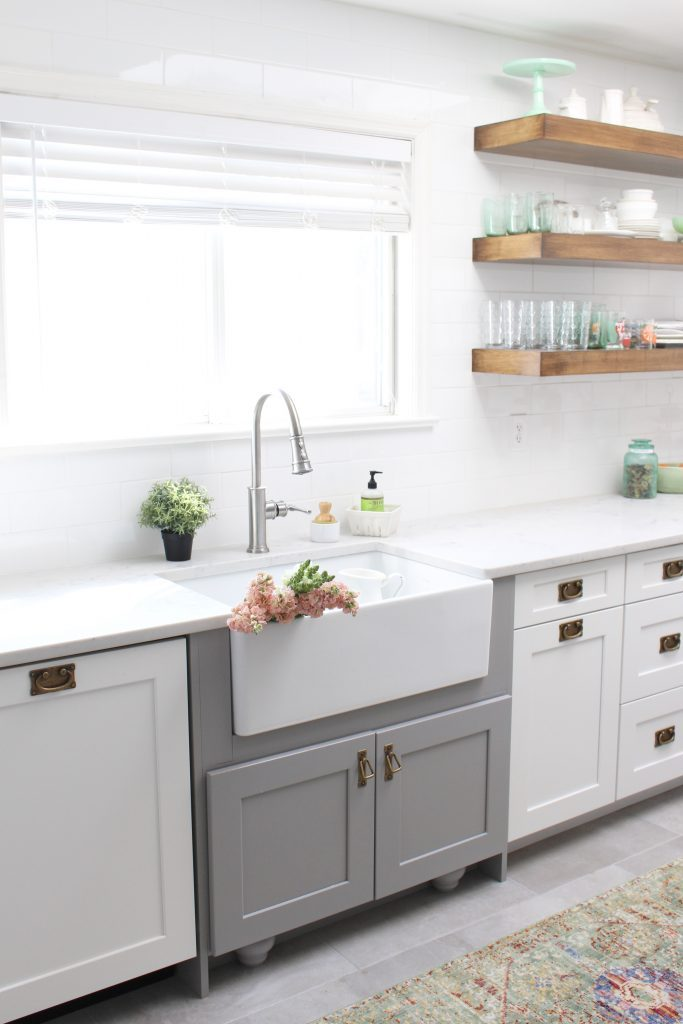 The Perfect Farmhouse Sink And Faucet For My Cottage Kitchen White Cottage Home Living