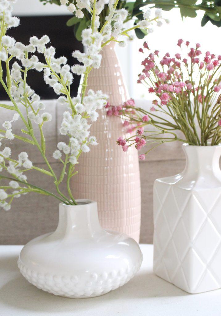 spring decor- spring decorating- home decor ideas for spring- Kirkland's Flower Market- DIY flower arrangements- DIY projects- decoration ideas- room decor ideas- crafts- craft ideas- vases