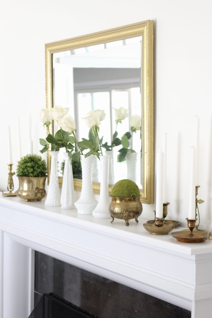 Elegant Summer Mantel In The Dining Room White Cottage Home Living