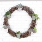 Outdoor Succulent Garden Wreath