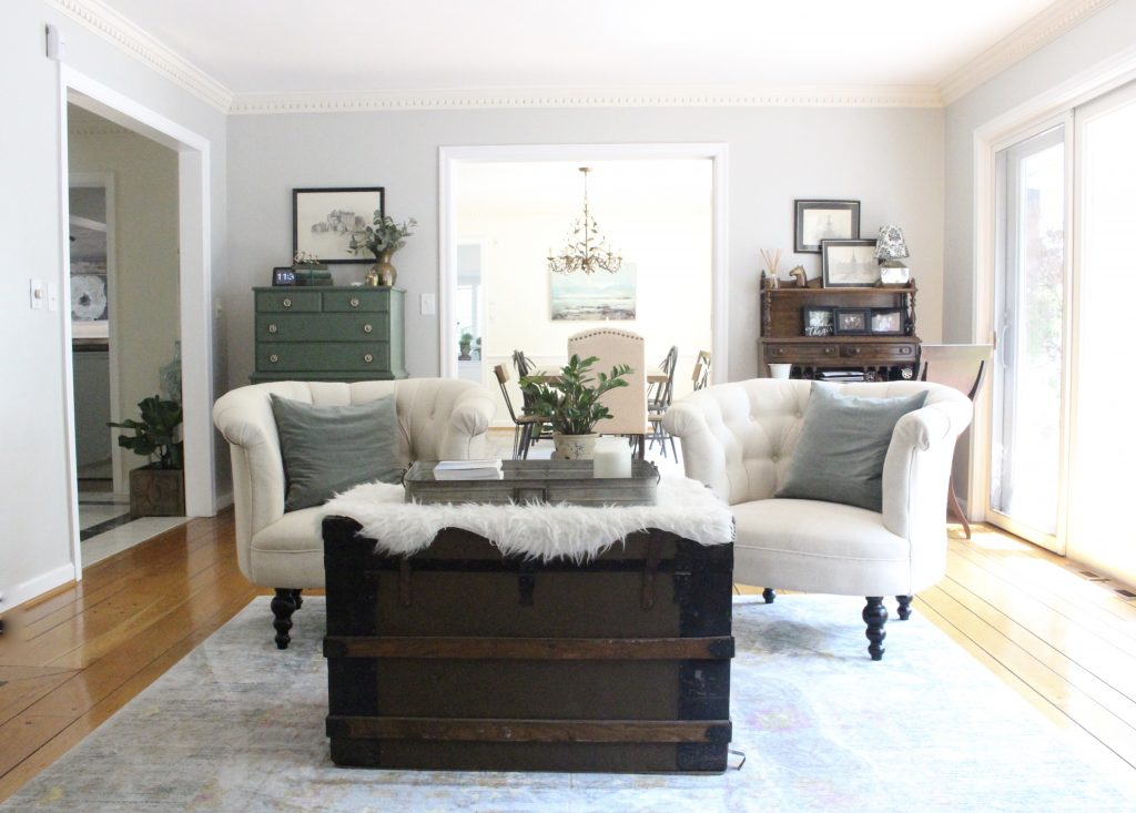 A Multifunctional  Living Room  Office  Room Design  Tour  A Wood Dresser  ...