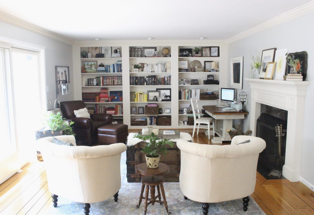 A Multifunctional  Living Room  Office  Room Design  Tour  A Wood Dresser  ...