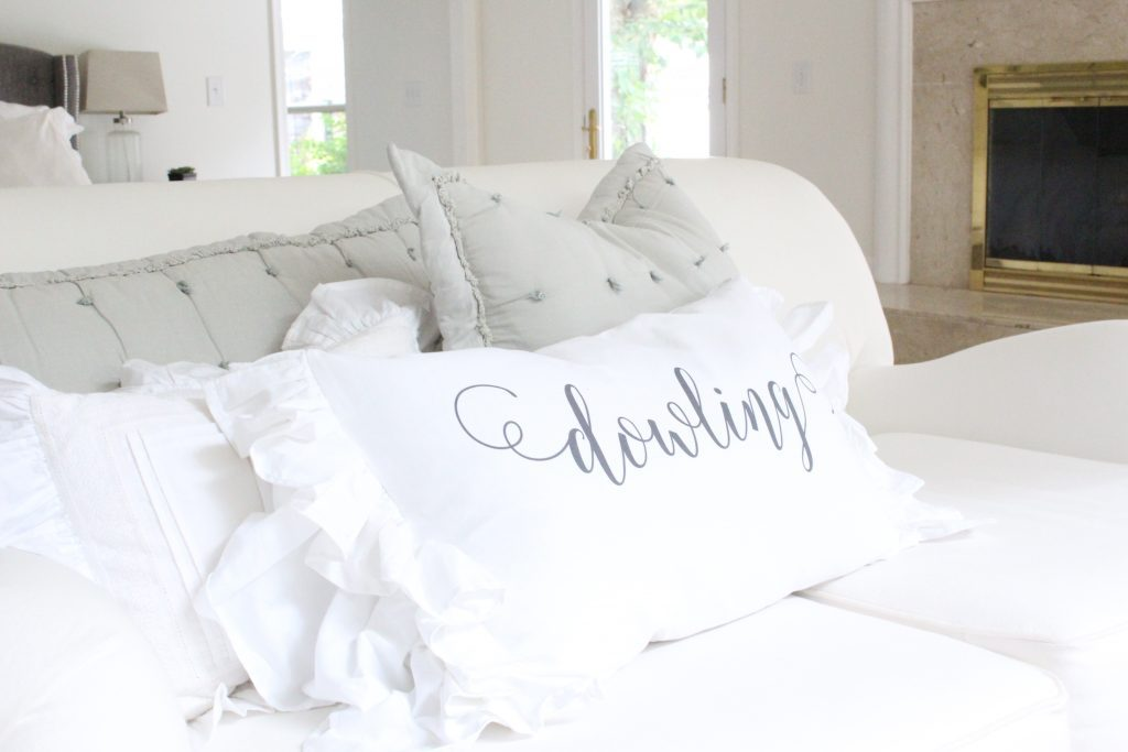 Custom pillows and handmade items- linens- ruffles- personalized- pillowcases- handmade