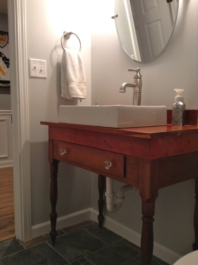 DIY Antique Table To Sink Vanity My Life From Home