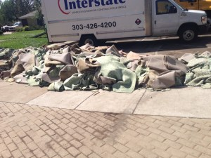 Just some of the carpet that was ripped out