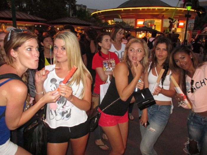 #6 Snacking at Disneyland...but strangely suspicious