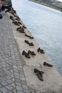 The Shoe Memorial for the Jewish people of Budapest who lost their lives in the Holocaust.