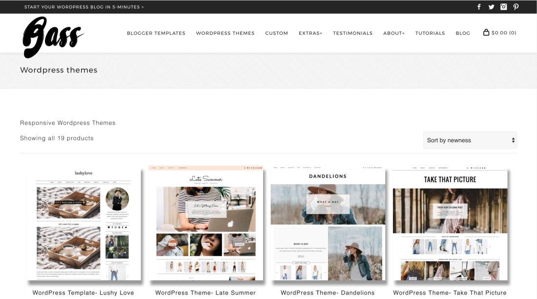 Kotryna Bass WordPress Themes