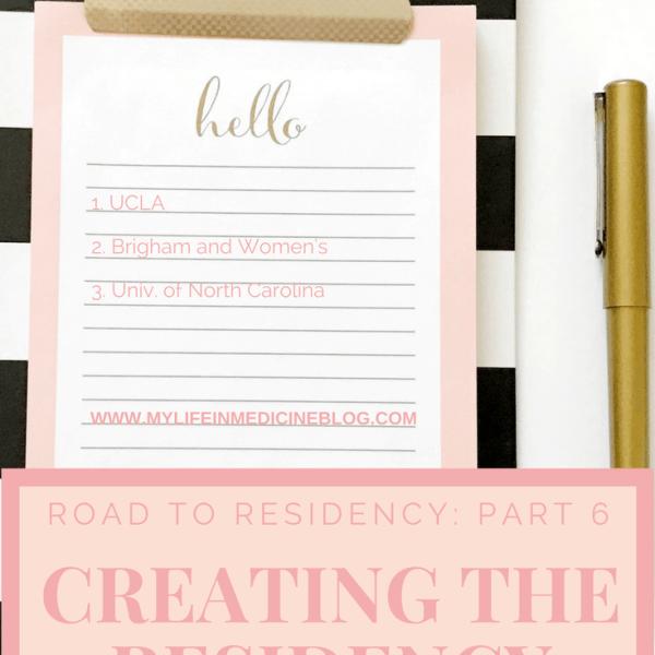 Road to Residency: Creating the Residency Rank List