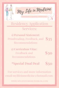 Residency Application Help