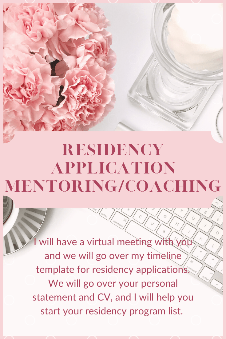 residency application mentoring