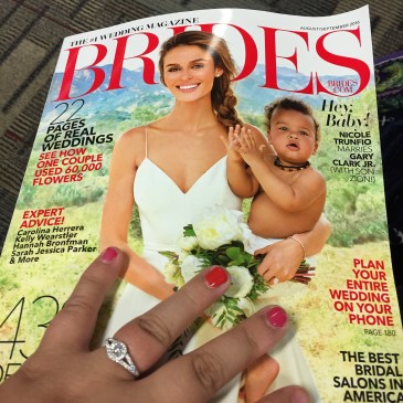 My first bridal magazine I bought in the airport.