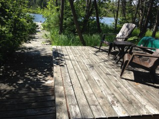 The private dock that belonged to the cabin