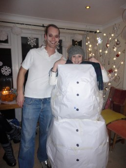 Matt and the snowgirl