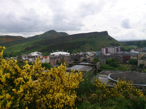 view to the crags