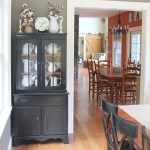 Dining Room Hutch Makeover With Black Paint Life On Kaydeross Creek Light Life On Kaydeross Creek