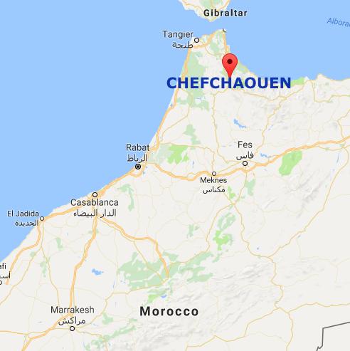 Chefchaouen map mylifesamovie.com