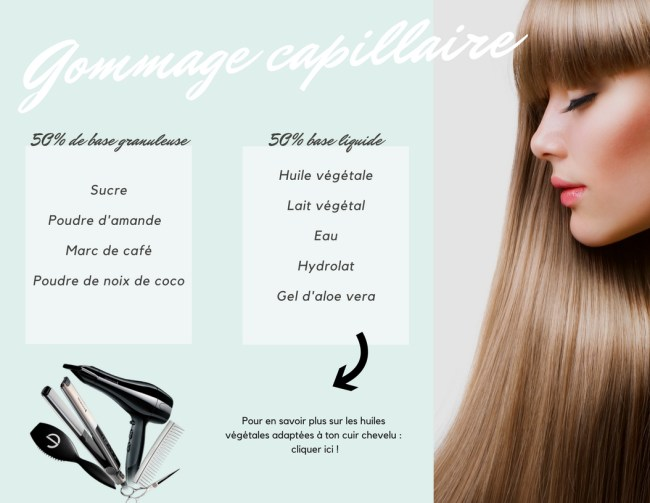 gommage capillaire
