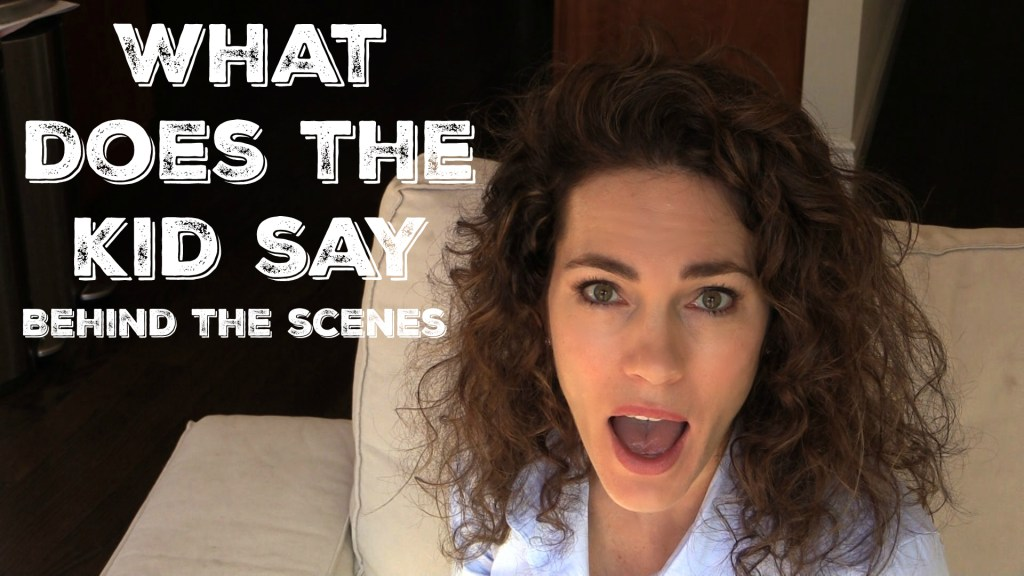 What Does the Kid Say – Behind the Scenes of our First Video