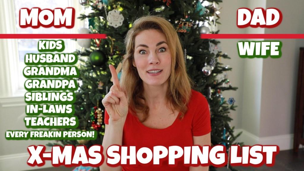 Mom's Christmas List vs. Dad's Christmas List