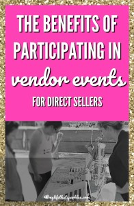 benefits of vendor events for direct sellers