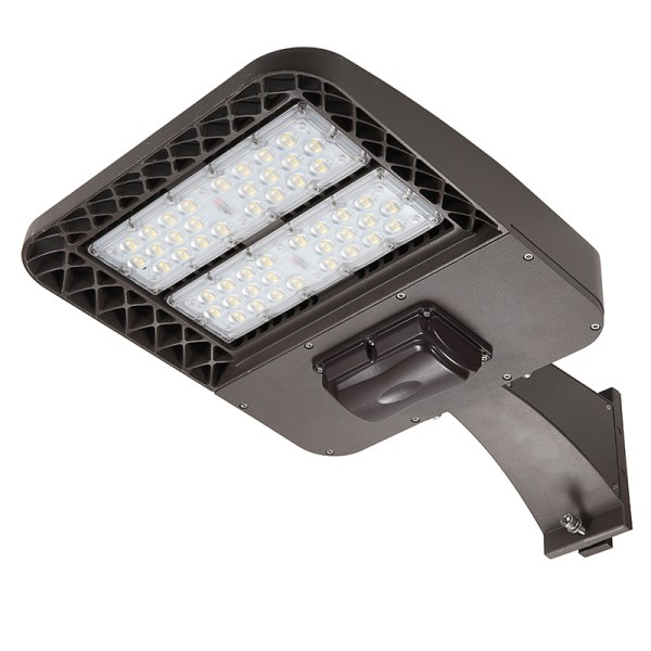 LED Parking lot light with square pole mount