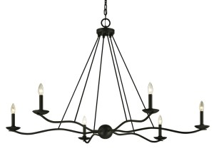 Troy Lighting Sawyer 6 light chandelier