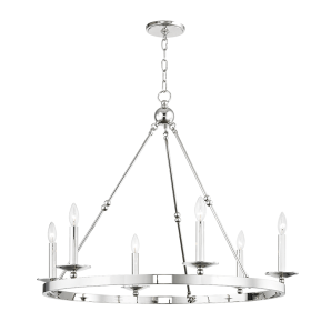 Hudson Valley 3206-PN Allendale 6 light Chandelier
