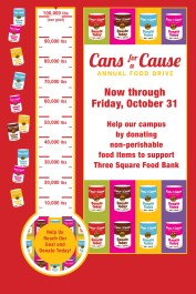 Cans for a Cause 4ft x 6ft Poster