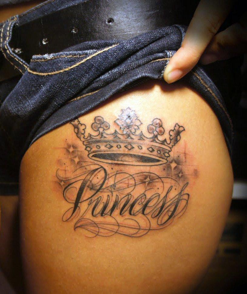 татуировки короны для девушек