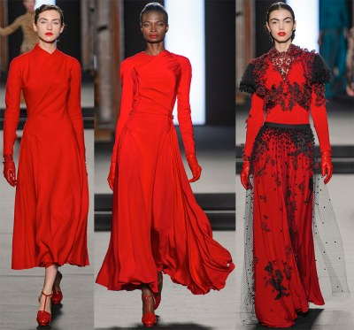 Red dresses for the New Year 2019