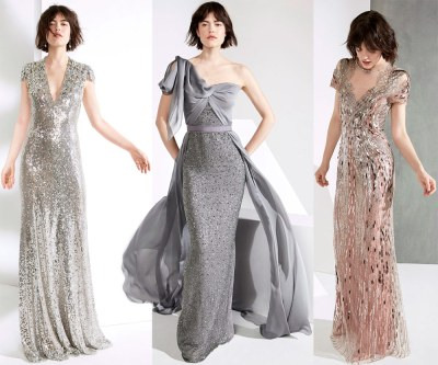 Evening dresses on the floor for the New Year