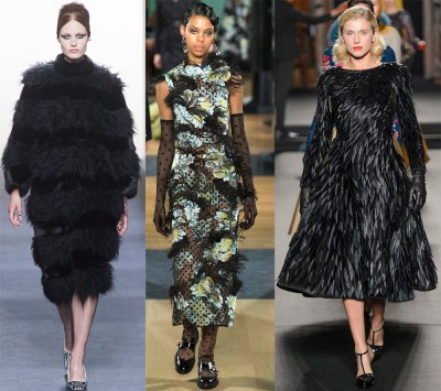 Chic dresses with feathers